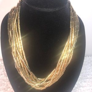 MK~Michael Kors~ Chunky Goldtone 8 Strand Necklace